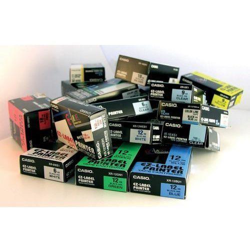 Taśma do drukarek Casio, 6 mm x 8 m, taśma biała tekst czarny, XR-6WE - Autoryzowana dystrybucja - Szybka dostawa