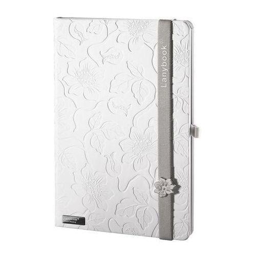 Lediberg Notes a6 lanybook innocent passion w linie biały z szarą gumką