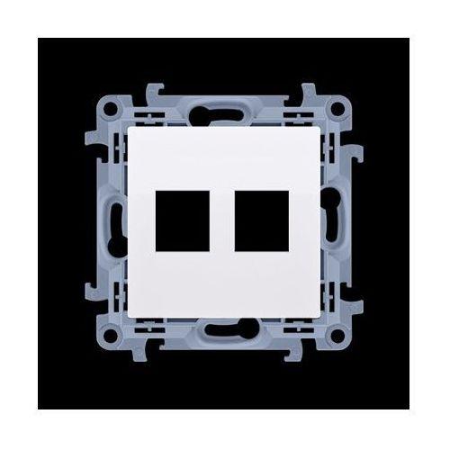Kontakt-simon Pokrywa gniazd teleinformatycznych na keystone płaska podwójna (moduł); biały