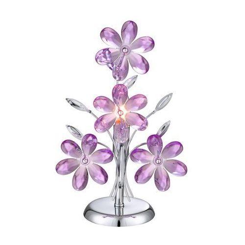 GLOBO 5146 – Lampa stołowa dekoracyjna PURPLE 1xE14/40W (9007371206667)