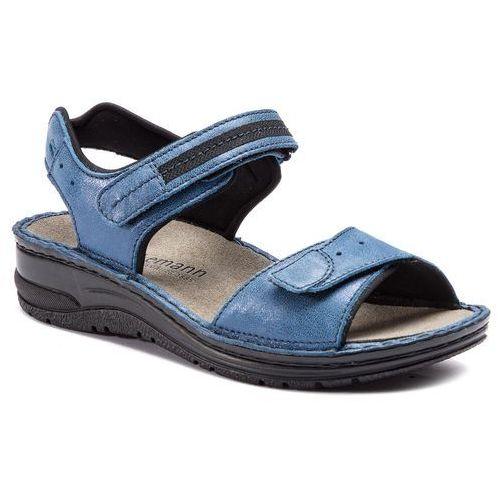 Berkemann Sandały - leni 03102 blau/glitter 318