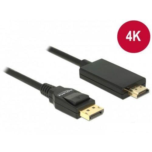 Delock kabel displayport v1.2a - hdmi m/m 4k 5m czarny premium