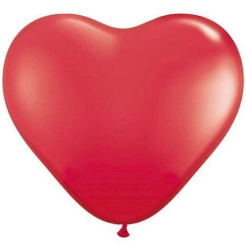 Twojestroje.pl Balon lateksowy pastel czerwony serce 41 cm 1szt