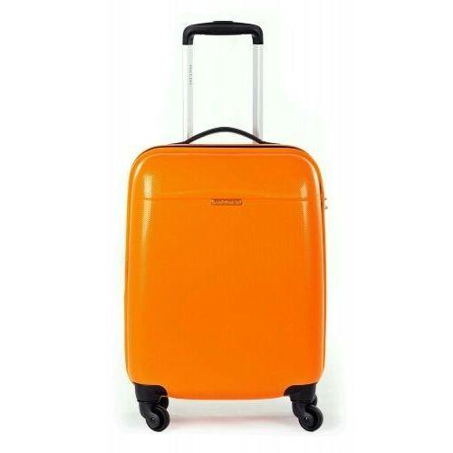 walizka mała/ kabinowa z kolekcji pc005 voyager twarda 4 koła materiał policarbon zamek szyfrowy z systemem tsa marki Puccini