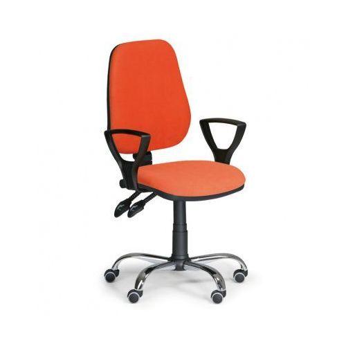 Euroseat Krzesło biurowe comfort z podłokietnikami - pomaranczowe