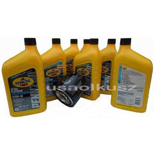 Olej 0w40 oraz oryginalny filtr mopar dodge challenger srt 6,4 v8 marki Pennzoil