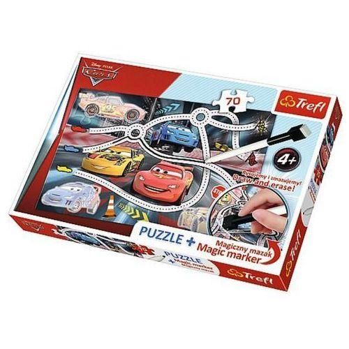 70 elementów puzzle + mazak ekscytujący wyścig marki Trefl