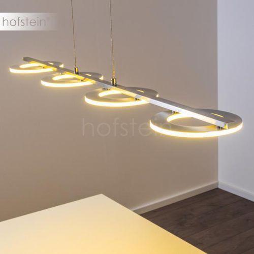Rexton lampa wisząca led nikiel matowy, chrom, 4-punktowe - nowoczesny - obszar wewnętrzny - rexton - czas dostawy: od 10-14 dni roboczych marki Hofstein