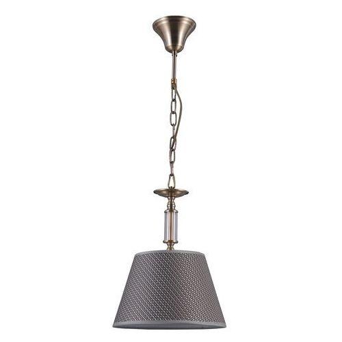 Italux zanobi pnd-43272-1 lampa wisząca zwis oprawa 1x40w e14 brąz antyczny (5902854531097)