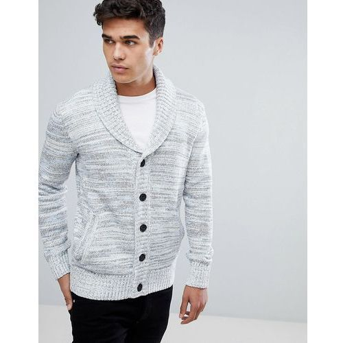 Tom Tailor Shawl Collar Cardigan In Stone - Stone