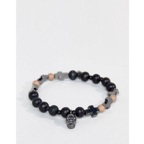 Icon Brand Skull & Cross Bracelet In Black - Black