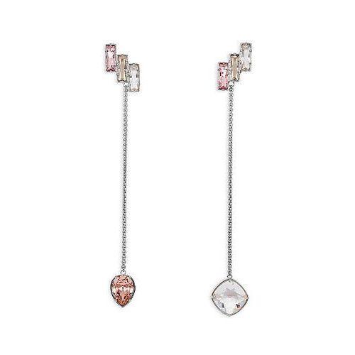Swarovski Nile Long Pierced Earrings, palladium plating Pink Rhodium-plated - produkt z kategorii- Kolczyki