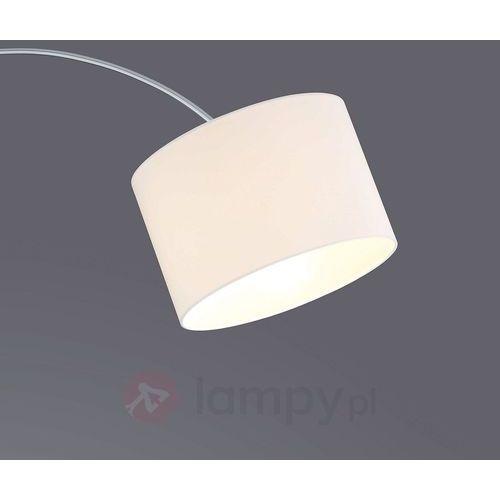 Wygięta lampa stojąca risa z materiał. abażurem marki Trio leuchten