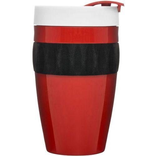 Kubek termiczny do kawy To Go Cafe Sagaform czerwono-czarno-biały (SF-5017315), kolor czerwony