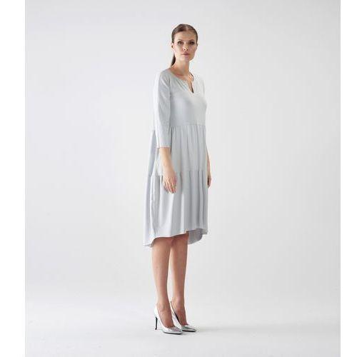 Sukienka su128 (Kolor: szary, Rozmiar: Uniwersalny), kolor szary