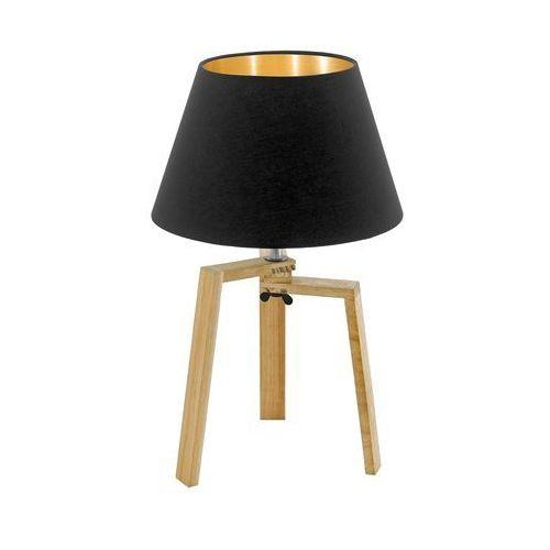 Lampka Eglo Chietino 97515 stołowa nocna 1x60W E27 czarna/złota, 97515