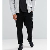 River Island Big and Tall Straight Fit Jeans In Black - Black, kolor czarny