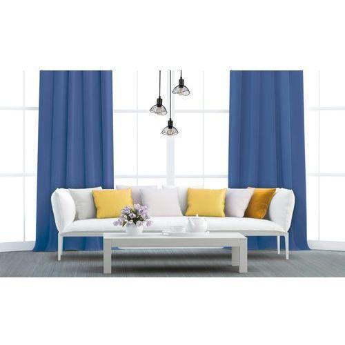 Zasłona gotowa AURA kolor Ciemny niebieski 140 x 250 cm Kółka 160 g/m² ACTION