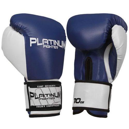 platinum fighter rękawice bokserskie tiger niebieskie - biały ||niebieski marki Beltor