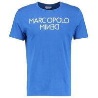 Marc O'Polo DENIM SHORT SLEEVE INSIDE OUT Tshirt z nadrukiem powder blue, 861219451506