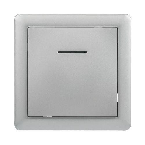 Lexman Przycisk dzwonek podśietlany slim srebrny (5901171202314)