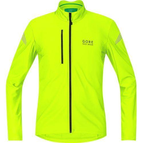 Gore bike wear element thermo koszulka kolarska mężczyźni żółty m koszulki rowerowe z długim rękawem