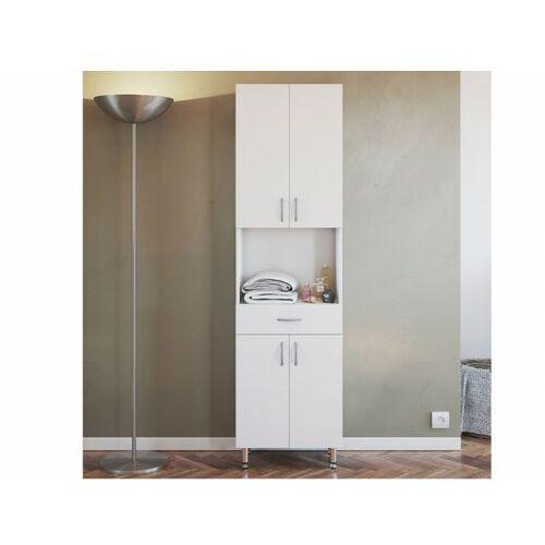 Vente-unique Szafka łazienkowa minela – kolor biały