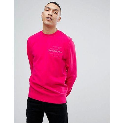 Calvin Klein Jeans Embroidered Logo Sweatshirt - Pink, w 3 rozmiarach