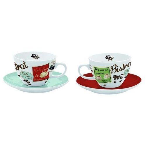 - zestaw 2 filiżanek cappuccino z talerzykami marki R2s