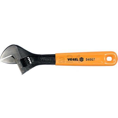 Klucz nastawny 250mm gumowany uchwyt Vorel 54067 - ZYSKAJ RABAT 30 ZŁ, 54067