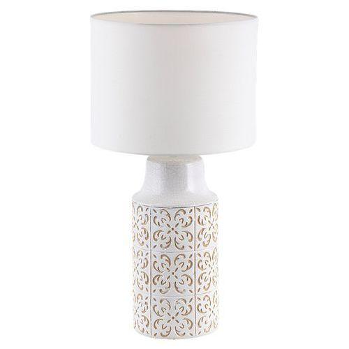 Lampa stołowa agnes 4310 lampka nocna 1x40w e27 biały / beżowy marki Rabalux