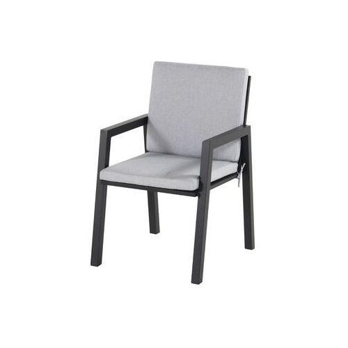 Hartman Krzesło ogrodowe w kolorze black/light grey olefin | ancona