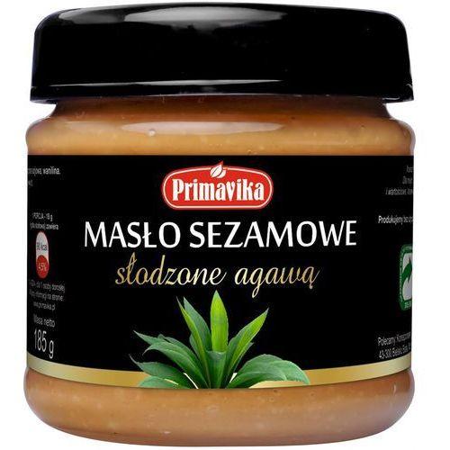 masło sezamowe słodzone agawą 185g
