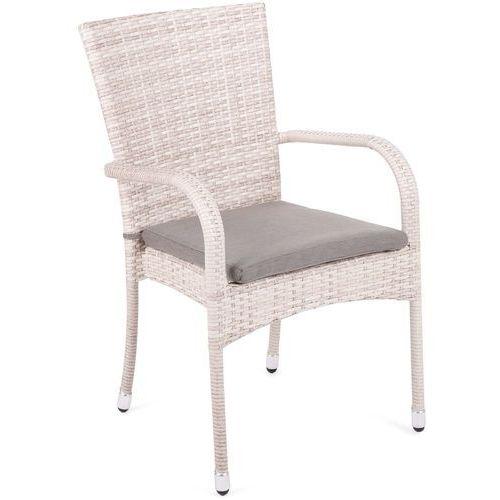 Krzesło technorattanowe Mori Basic Beige z poduszką (5902425321812)