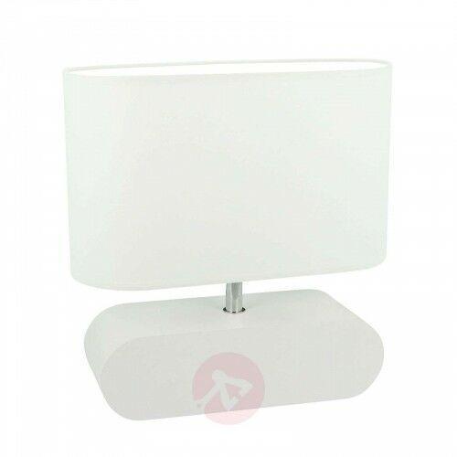Lampa stołowa Marinna, biała podstawa, klosz biały, 26712924387