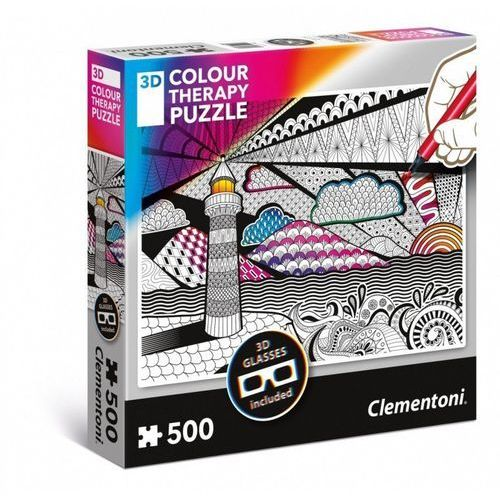 Puzzle 3d colour therapy latarnia - . darmowa dostawa do kiosku ruchu od 24,99zł marki Clementoni