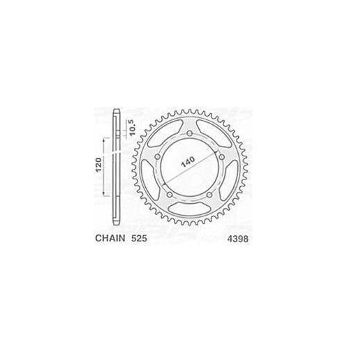 JR ZĘBATKA 4398 45 (179245JT) SUZUKI GSXR 600 (01-05), GSXR 750 (06-08) 439845JR