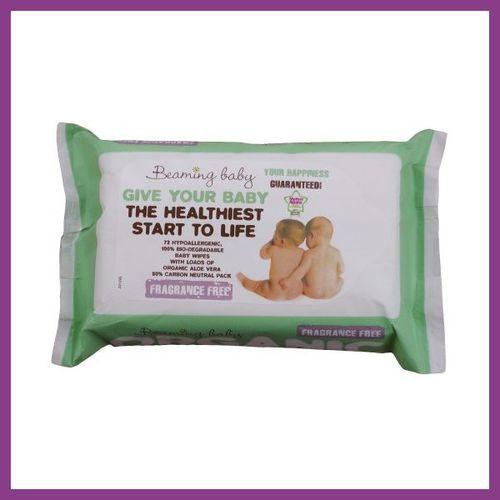 BEAMING BABY Chusteczki nawilżane bezzapachowe - do skóry bardzo delikatnej - produkt z kategorii- Chusteczki nawilżane