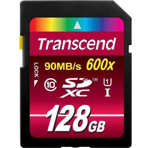 Karta pamięci SDXC Transcend TS128GSDXC10U1, 128 GB, Class 10, UHS-I, 90 MB/s / 45 MB/s, Ultimate