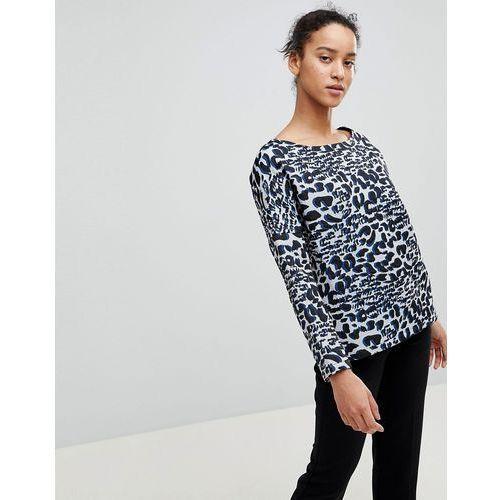 See u soon leopard long sleeve shell top - grey