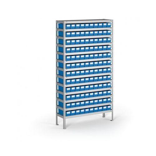 Regał z pojemnikami plastikowymi shelfpoj., 2000x1000x400 mm, 120x poj. b marki B2b partner
