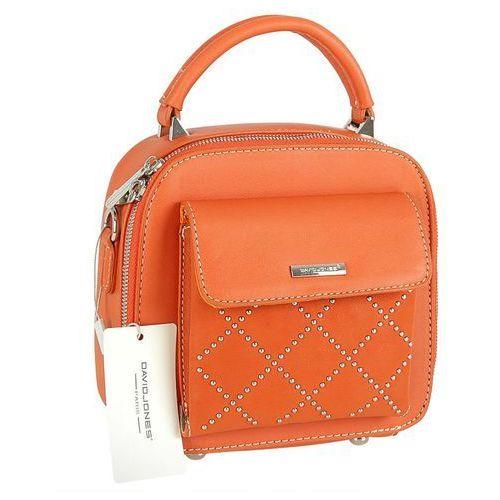 Delikatny kuferek DAVID JONES pomarańczowy - pomarańczowy, kolor pomarańczowy