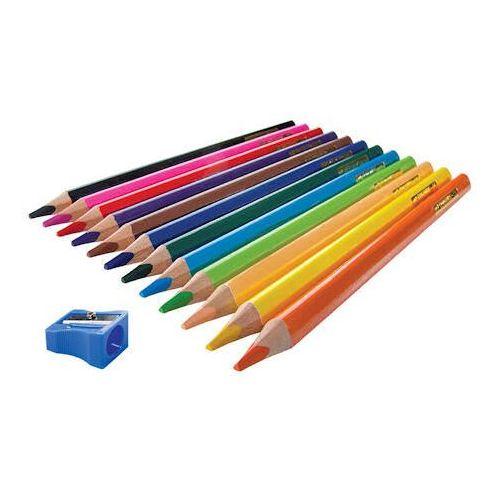 Kredki ołówkowe Kredki easy jumbo trójkątne + temperówka 12 kol x1