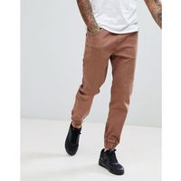 Bershka Chino Joggers In Brown - Green, 1 rozmiar