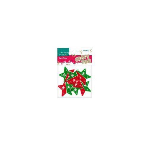 Filc dekoracyjny gwiazda 383936 - EURO-TRADE
