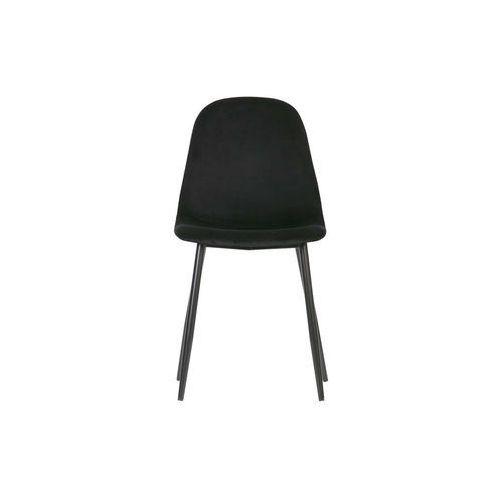 Woood Zestaw 2 krzeseł Marije velvet czarny 373764-Z (8714713085194)