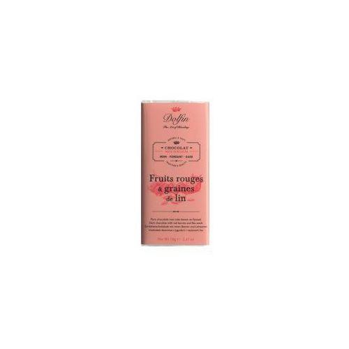Czekolada Dolfin z jagodami i nasionami lnu 70g, CB59-297B6