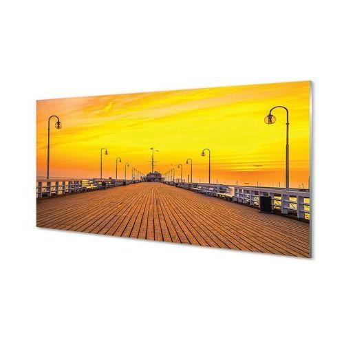 Obrazy akrylowe Gdańsk Molo zachód słońca morze