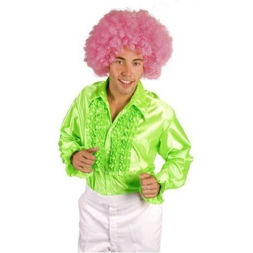 Koszula z falbanami zielona - M, L, XL - stroje/przebrania dla dorosłych