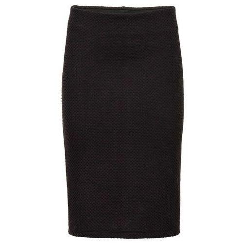 Elastyczna spódnica żakardowa czarny marki Bonprix